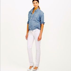 J.Crew Maternity  Matchstick White Jeans Size 24 R